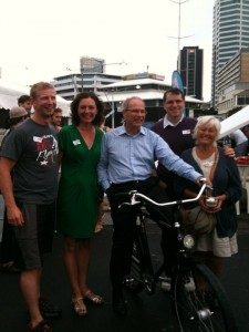 Rob Thomas, Pippa Coom, Mayor Len Brown, Christopher Dempsey and Tricia Reade