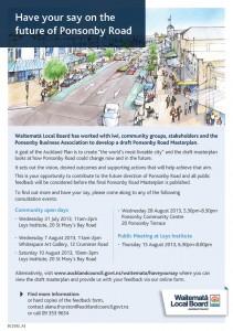Draft Ponsonby Road Masterplan flyer