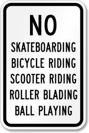 No skating sign
