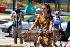 Dalston show on bike