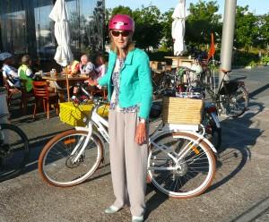 Barbara Grace with her electric bike