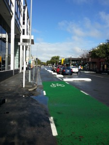 Frome St protected cycle way Adelaide