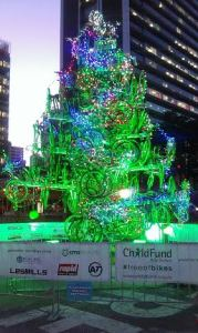 Child Fund NZ's Tree of Bikes at Queens Wharf