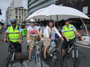 Police on bikes at open Streets