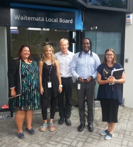 Waitemata LB office opening local board services team