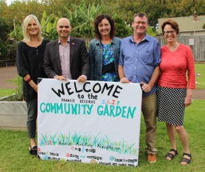 Francis Reserve Womens centre community garden Board and Leonie