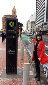 The new cycleway counter on Quay Street