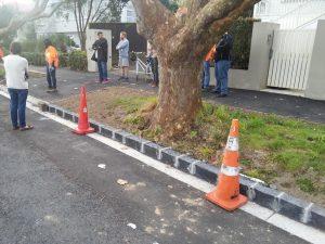 Hakanoa Street, Grey Lynn, kerb inspection meeting
