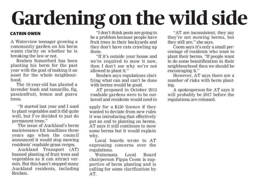 Central Leader berm article Gardening on the wild side