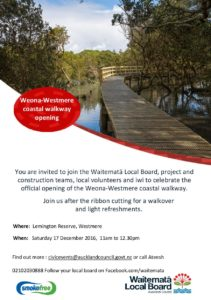 Weona-Westmere Coastal walkway opening