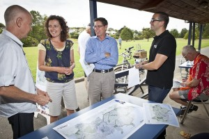 greenway consultation event at Grey Lynn Park