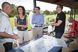 greenway consultation event at Grey Lynn Park