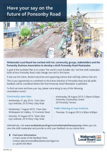 Draft Ponsonby Road Masterplan flyer