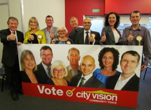 City Vision Waitemata Local Board team