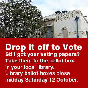Final days to vote – head to the library