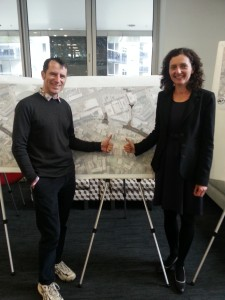 Pippa Coom and Christopher Dempsey at theBeach Road open day