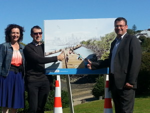 Westhaven drive walkway ground breaking