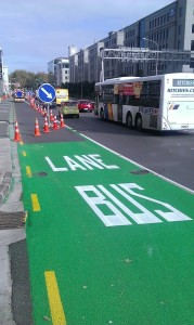 Bus lane on Fanshawe Street