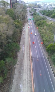 Grafton gully Cycleway progress April 2014