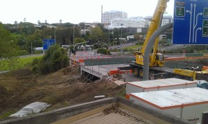 Progress at Wellesley Street underpass April 2014
