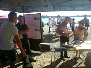 Skypath open day display Vernon Tava and Shale Chambers