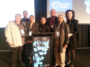 With some of the Local Board delegates at the LGNZ Conference in Nelson (L-R David Collings- Howick Local Board, Efeso Collins – Otara- Papatoetoe, Ruby Manukia-Schaumkel – Whau,   Lotu Fili, Otara-Papatoetoe  Simon Matafai- Whau, Ami Chand - Whau)