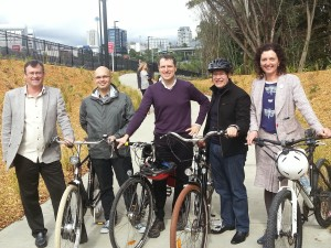 Members of the Waitemata Local Board with Mayor Len Brown
