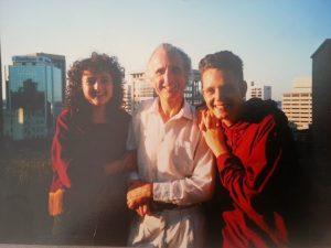 Pippa Coom, Malcolm Coom and Adam Coom Dec 1991