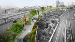 Nelson St off ramp before/after - City Centre Masterplan image