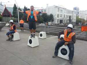 Pop plinths on Symonds St