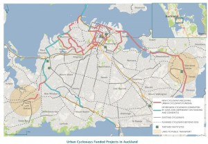 Auckland urban cycleways