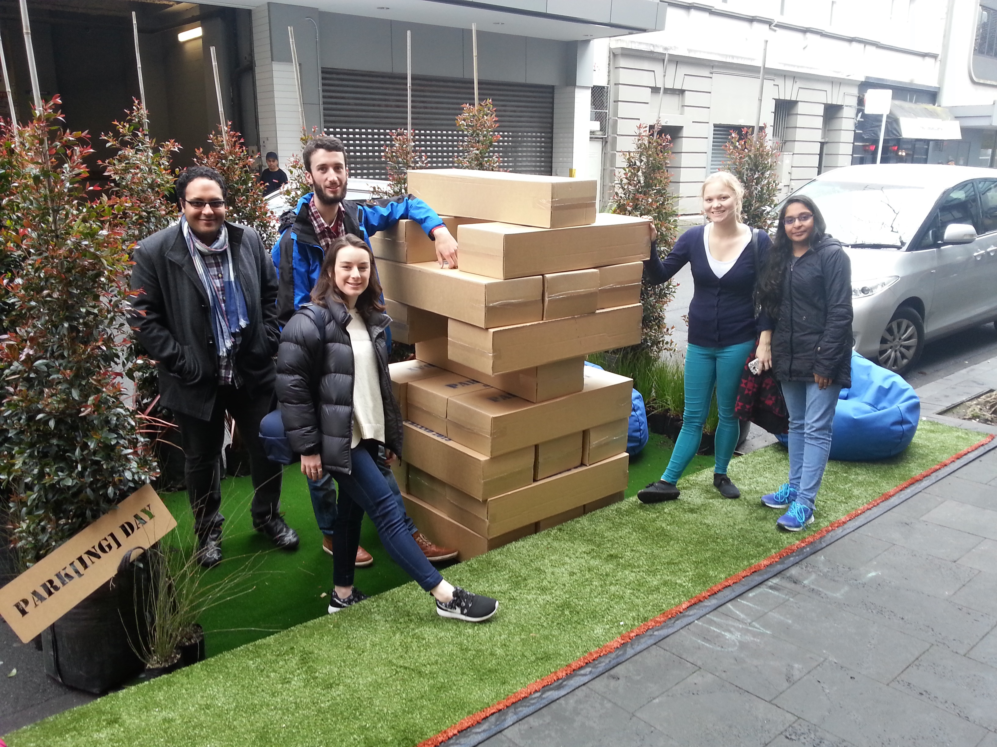 Park(ing) day 2015 temporary people places
