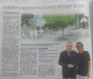 High St Chris Cherry in the Herald