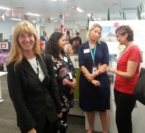 Cr Cathy Casey at Community Empowerment unit open day