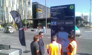 Wayfinding trial at Wynyard