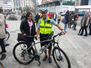 Bike Market June 2016 NZ Police officer Cole