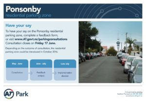 Ponsonby Residential parking zone consultation