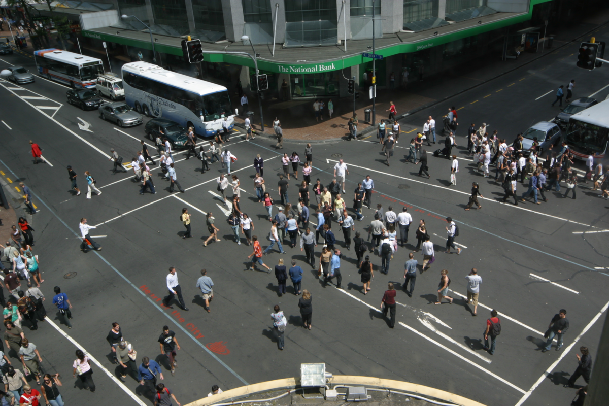 Auckland City Centre buzzing to the sound of people